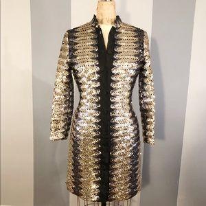 Women's vintage sequin jacket/dress size medium